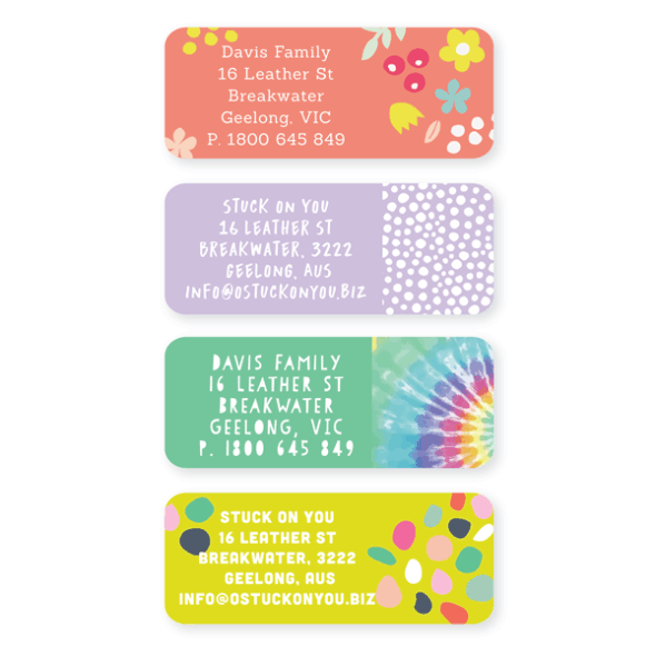 Iron On Labels - Pattern Custom Text