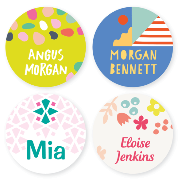 Iron On Labels - Pattern Large Round