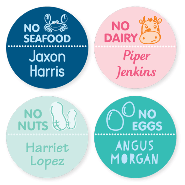 Iron On Labels - Allergy Large Round