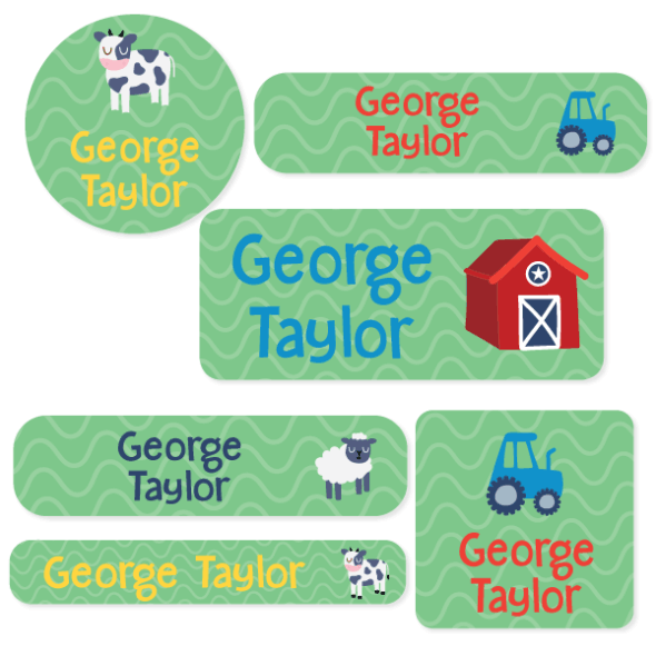 Iron On Labels - Designer Mixed