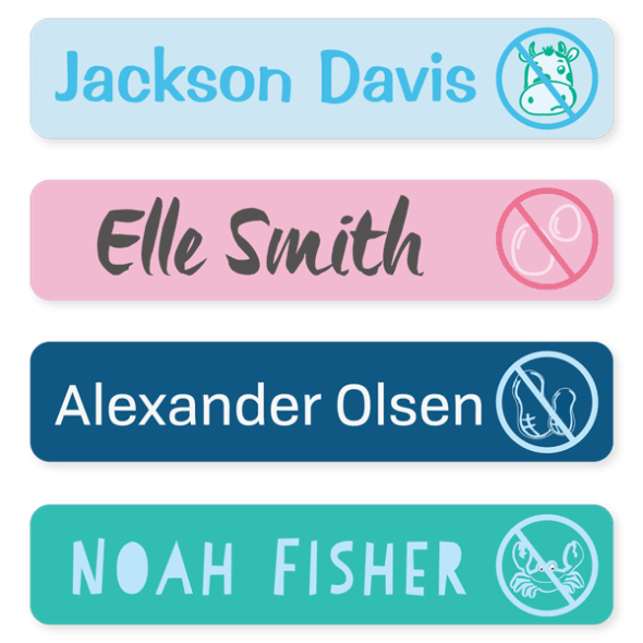 Name Labels - Allergy Large