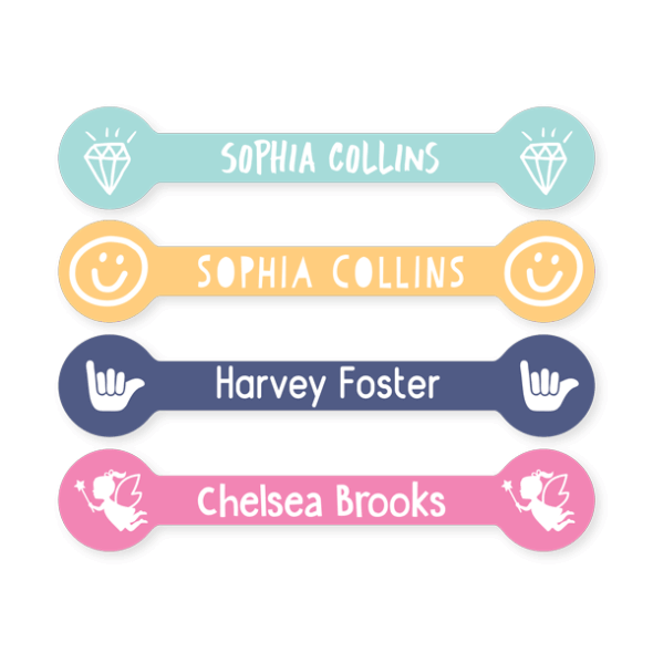 Name Labels - Classic Flag