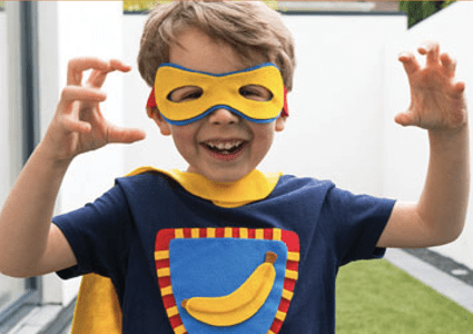 Hey Duggee brave banana cape activity for kids