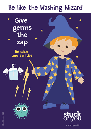 Give germs the zap printable kids poster
